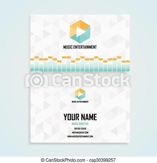 music entertainment name card template business name card design set