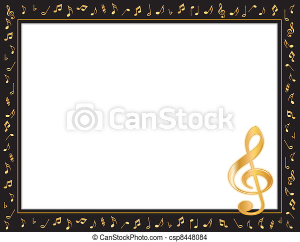 music entertainment poster frame csp8448084 - Music Picture Frame