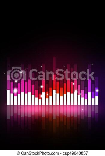 Music Equalizer Banner Multicolor Music Equalizer Background For Joyful Events
