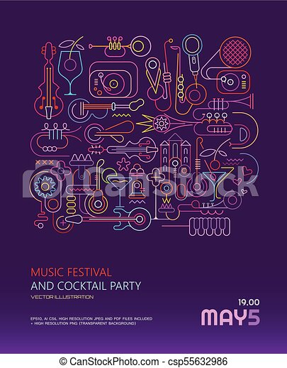 Music Festival and Cocktail Party poster