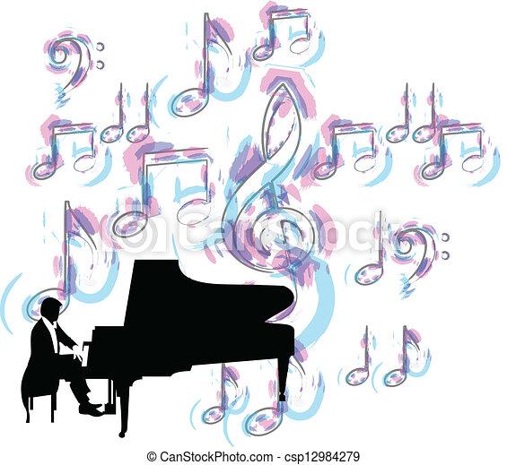 Music festival. Vector illustration - csp12984279