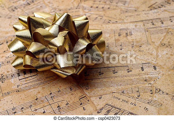 Music Gift Wrapping - csp0423073