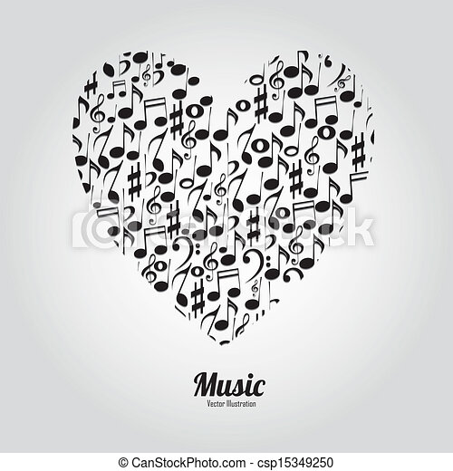 abstract music heart with different music notes on white boy listening to music clipart child listening to music clipart