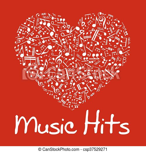 Music Heart With Notes And Musical Symbols Love Music Concept