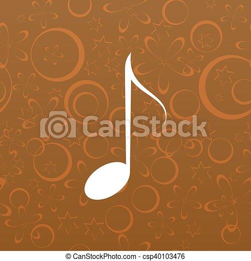 Music icon - csp40103476