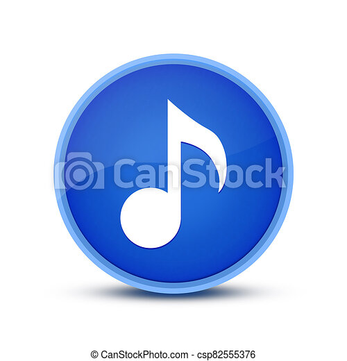 Music icon isolated on special blue round button abstract - csp82555376