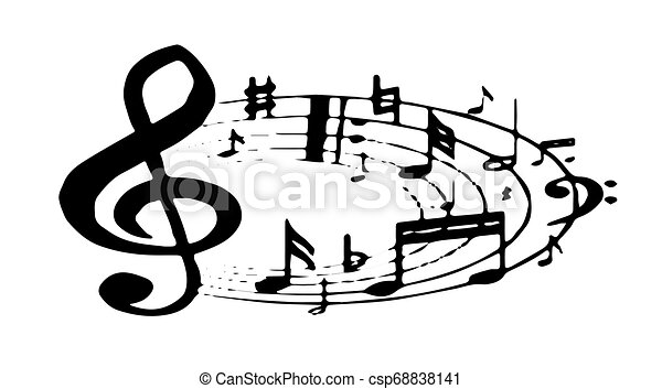 music icon on white background - csp68838141