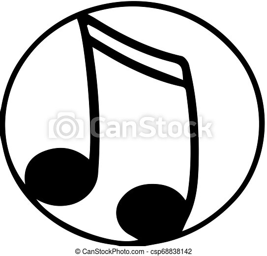 music icon on white background - csp68838142
