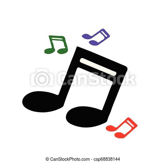 music icon on white background - csp68838144