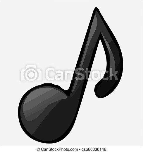 music icon on white background - csp68838146