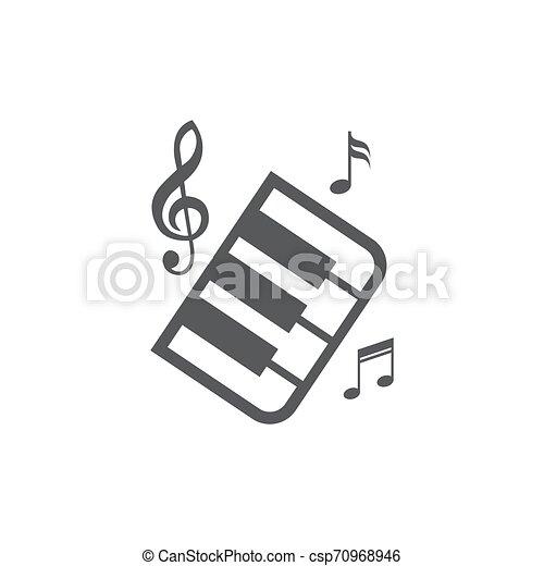 Music icon on white background - csp70968946