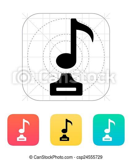 Music icon on white background. - csp24555729