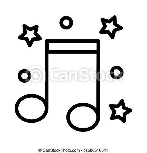 Music icon on white background, vector illustration - csp86516541
