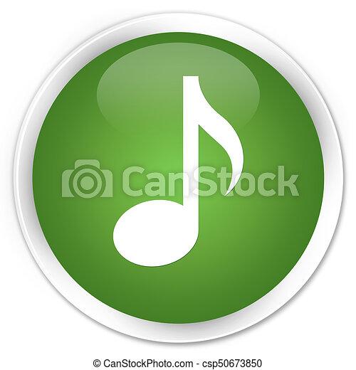 Music icon premium soft green round button - csp50673850