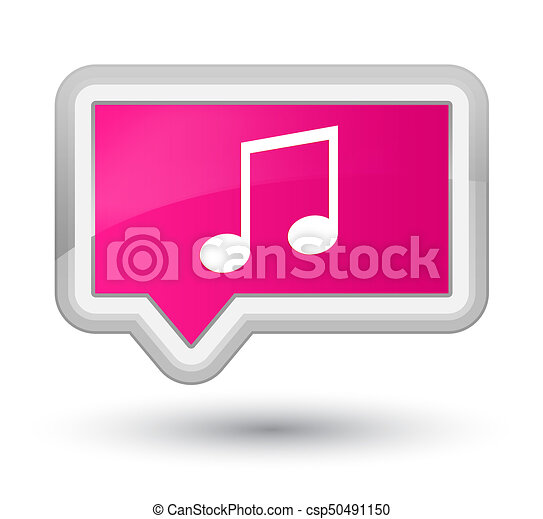 Music icon prime pink banner button - csp50491150