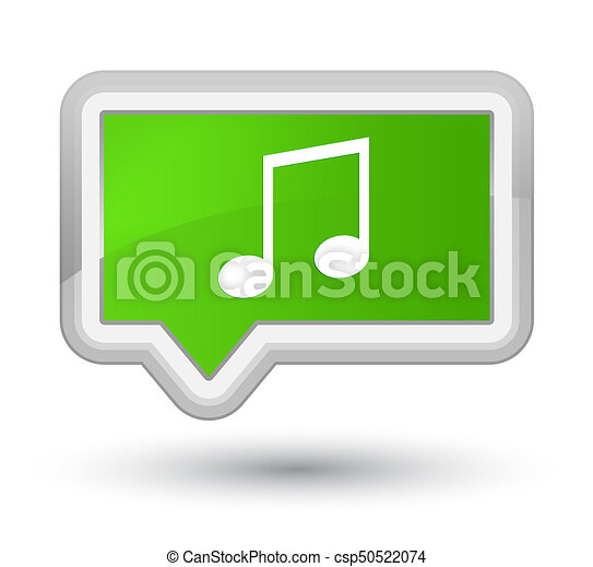 Music icon prime soft green banner button - csp50522074