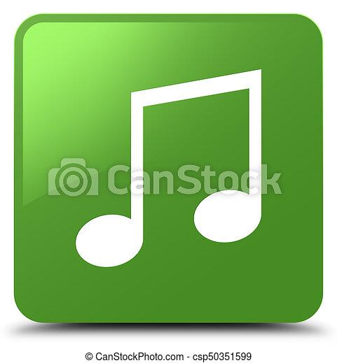 Music icon soft green square button - csp50351599