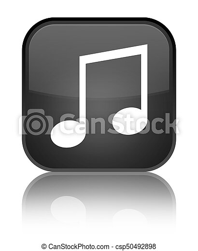 Music icon special black square button - csp50492898