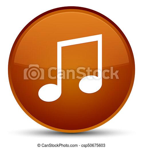Music icon special brown round button - csp50675603