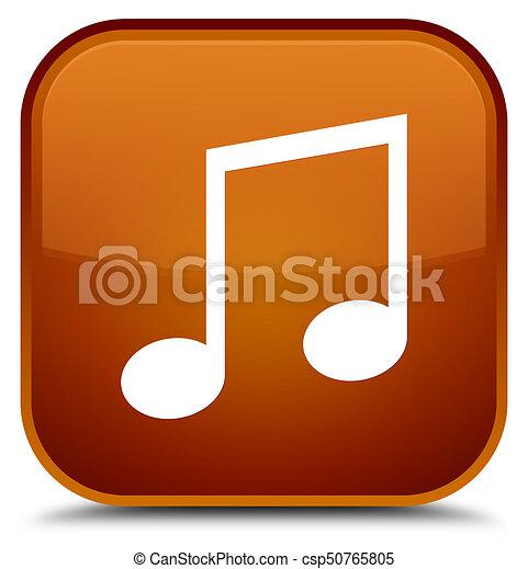 Music icon special brown square button - csp50765805
