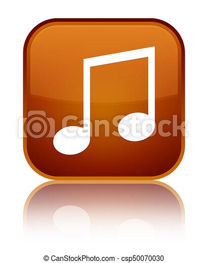 Music icon special brown square button - csp50070030
