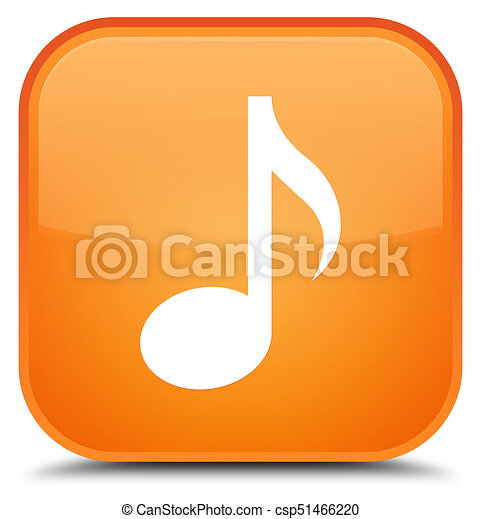 Music icon special orange square button - csp51466220