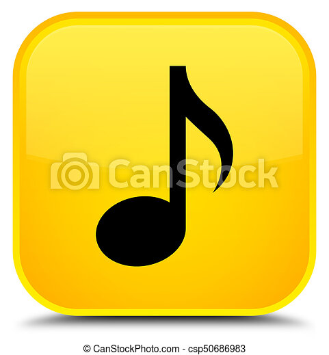Music icon special yellow square button - csp50686983