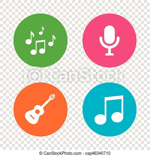 Music icons  Microphone, Acoustic guitar