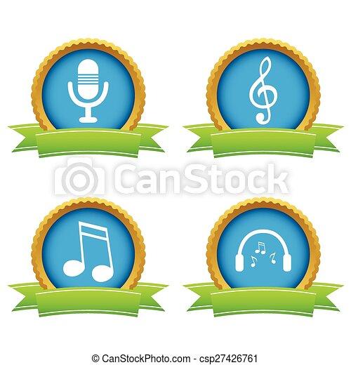 Music icons set - csp27426761