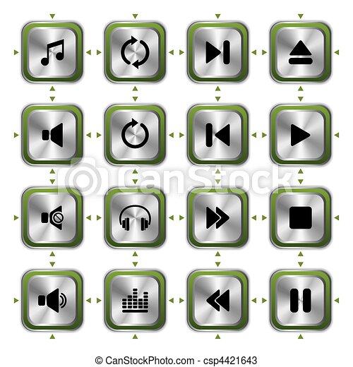 Music icons set  - csp4421643