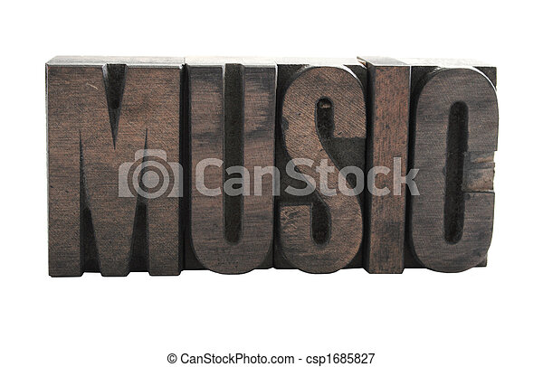 music in wood type - csp1685827