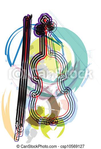 Music instrument vector illustration - csp10569127