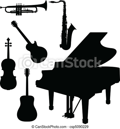 music instrument with piano vector - csp5090229