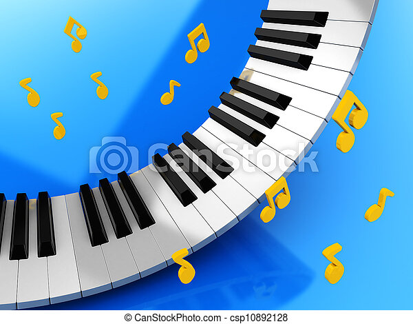Music keys and notes - csp10892128