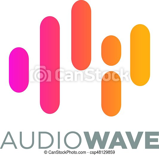 music logo concept sound wave audio technology an amazing rh canstockphoto com sound wave vector graphic free sound wave vector png