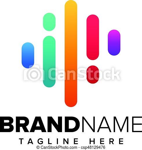 music logo concept sound wave audio technology an amazing rh canstockphoto ca sound wave vector art sound wave vector free