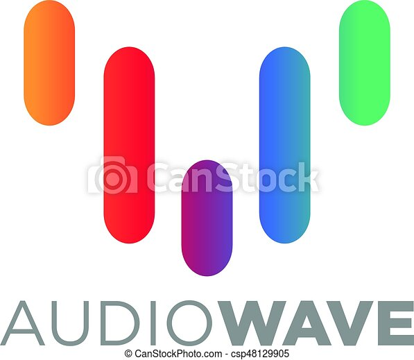 music logo concept sound wave audio technology an amazing rh canstockphoto com sound wave vector free download sound wave vector art