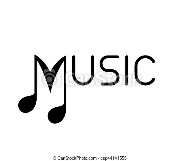 music logo with note music logo concept design ai 10 clipart rh canstockphoto com Small Music Notes Clip Art Basketball Vector Art