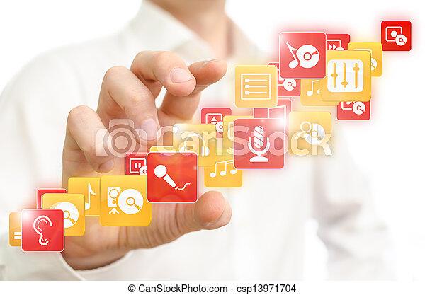 Music media - csp13971704