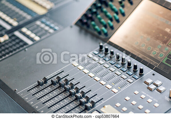 Music mixer equalizer console for mixer control sound device  Sound  technician audio mixer equalizer control  Mastering For Radio and TV  Broadcast