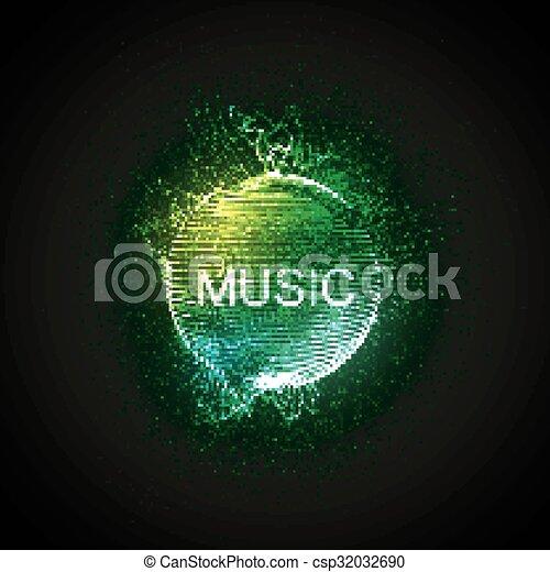 Music neon sign.  - csp32032690