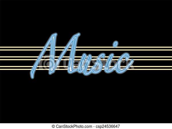 MUSIC NEON SIGN - csp24536647