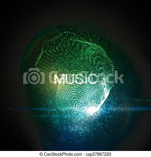 Music neon sign. - csp37867220