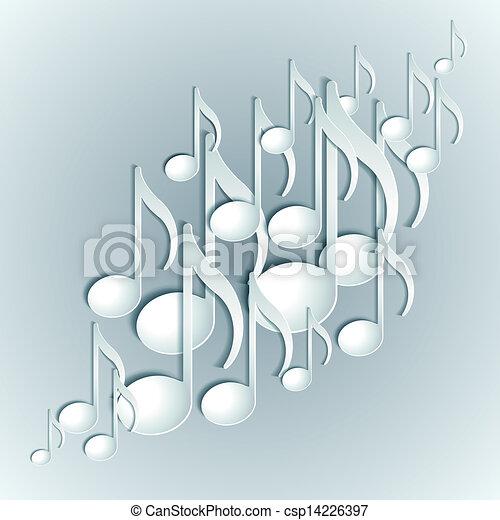 Music note background design. - csp14226397