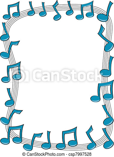 music note border a border made up of blue music notes vector rh canstockphoto com Ornate Border Vector Flower Border Vector