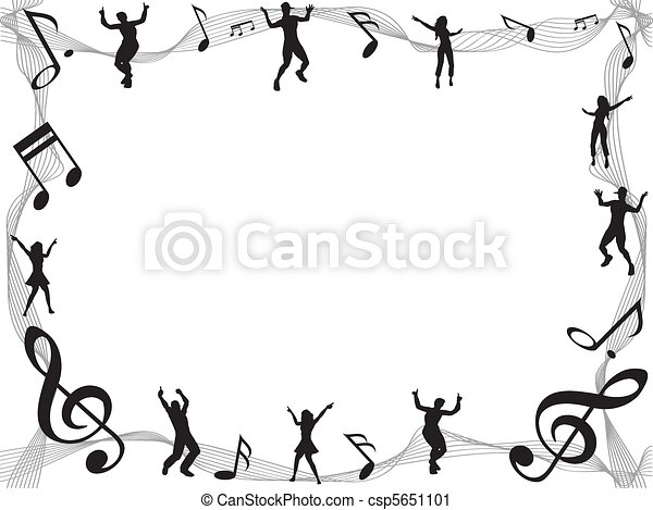 music note frame vector - Music Note Picture Frame