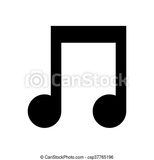 Music Note Icon Vector Music Note Symbol Illustration Silhouette