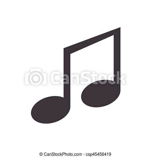 Music note Icon Vector on the background , vector - csp45456419