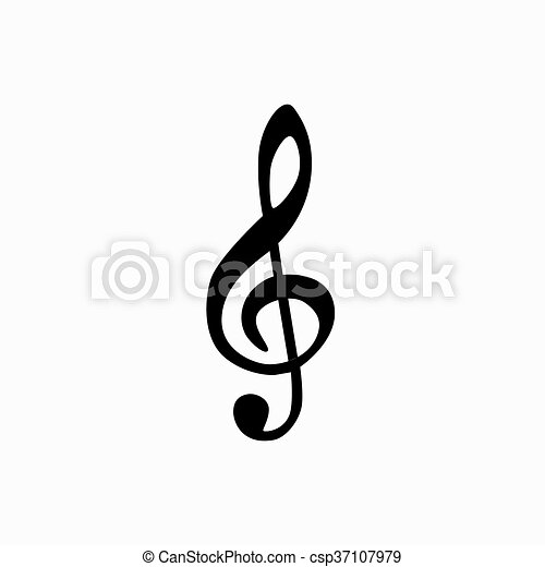 Music note isotated icon. - csp37107979
