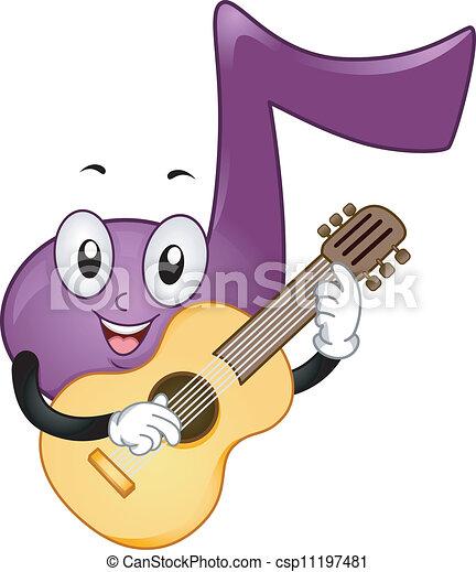 Music Note Mascot - csp11197481